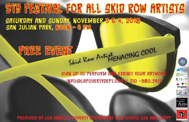 Festival For All Skid Row Artists – Nov. 3 & 4 San Julian park