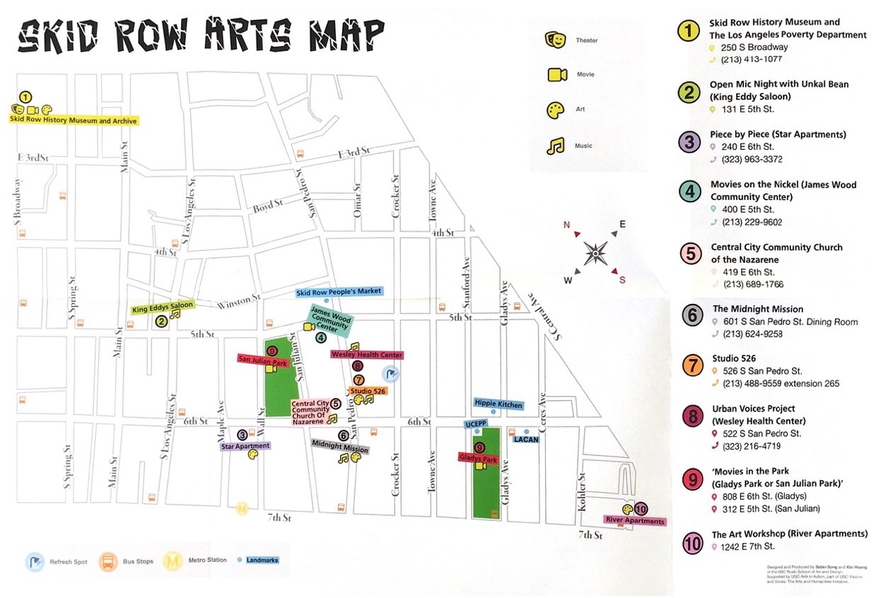 SKID ROW ARTS MAP @ Skid Row History Musuem and Archive | Los Angeles | California | United States