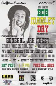 Bob Marley Day celebration @ Skid Row History Musuem and Archive