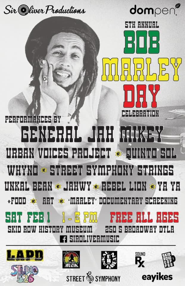 Bob Marley Day celebration  2/1/20