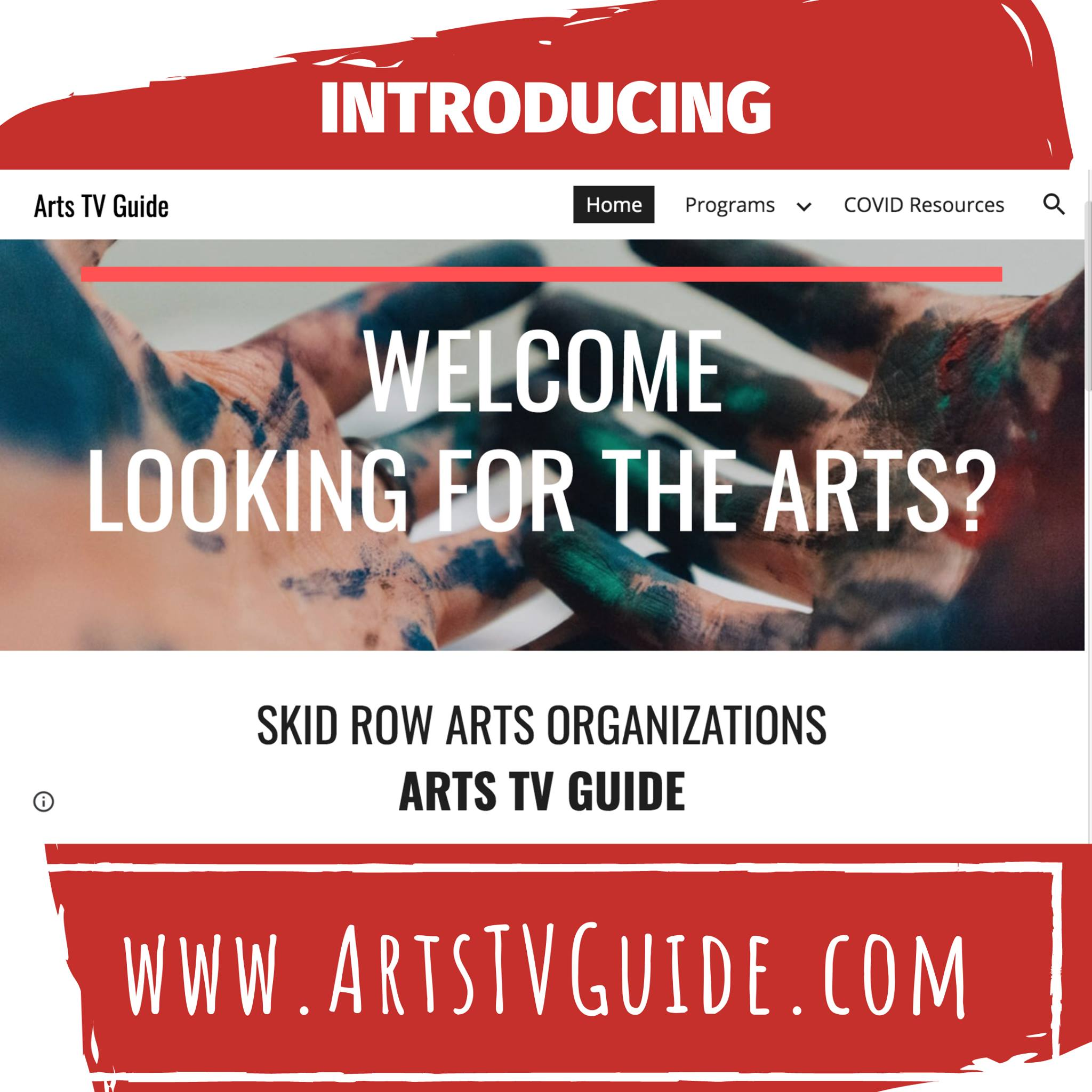 Skid Row homeless COVID_19 info. and Skid Row Arts TV Guide